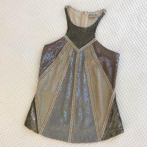 All Saints Geo Sequin Top, Size 6 (Minimal wear)